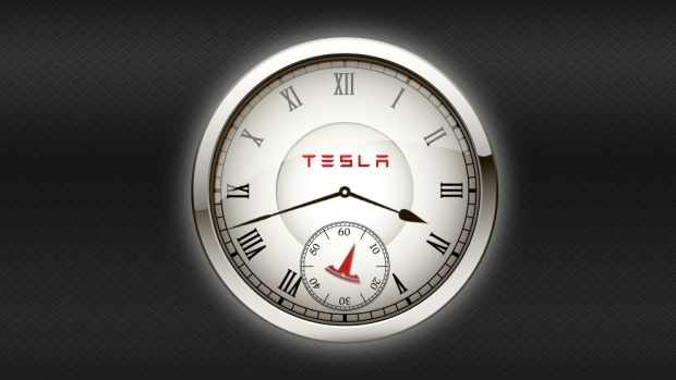 Tesla Web Clock