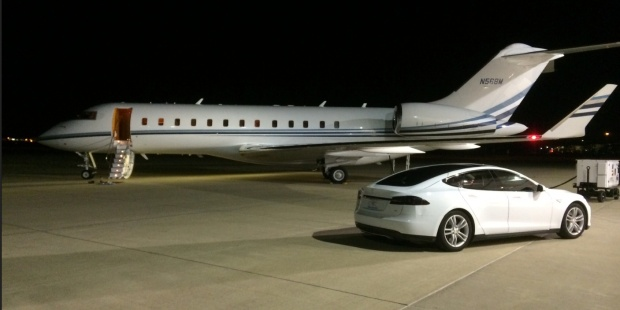 Model S on Tarmac